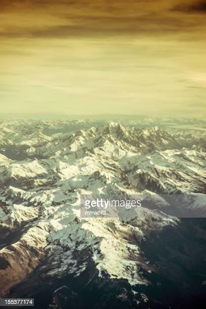 Areal vue du Mont Blanc