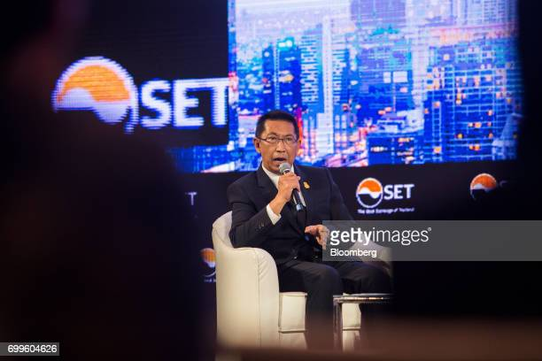 Areepong Bhoochaoom chairman of Thai Airways International Pcl speaks during the Thailand's Big Strategic Move forum in Bangkok Thailand on Thursday...