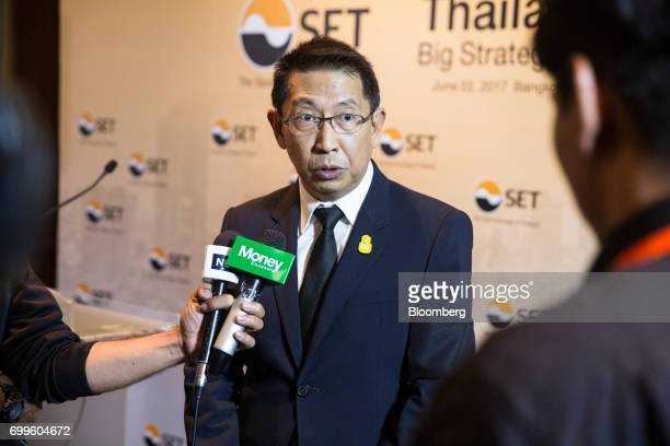 Areepong Bhoochaoom chairman of Thai Airways International Pcl speaks during a news conference on the sidelines of the Thailand's Big Strategic Move...