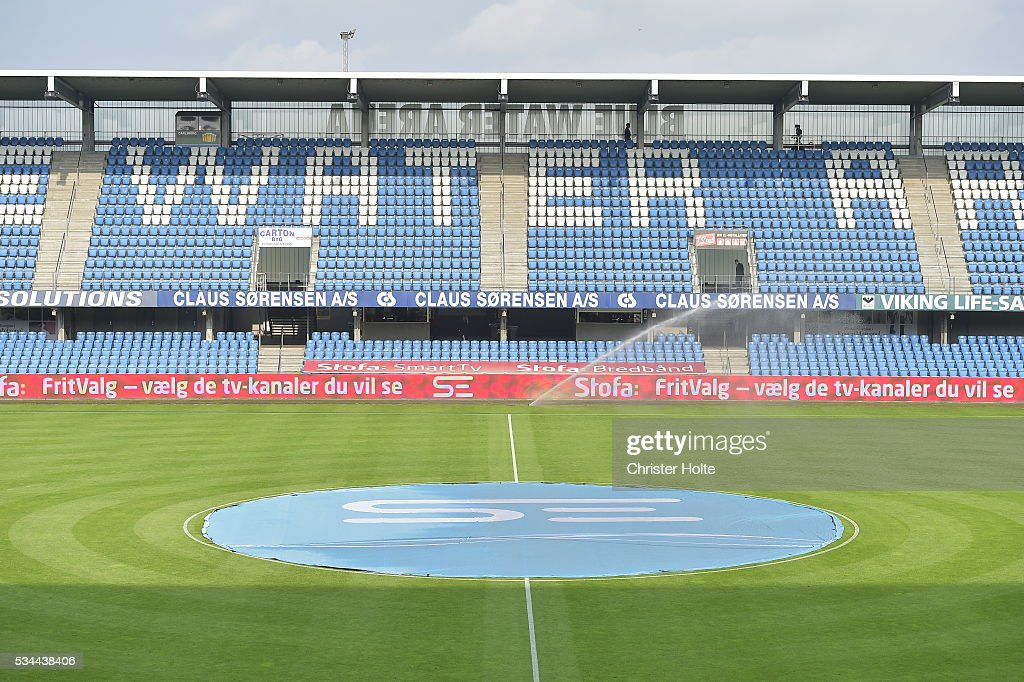 Arena in Esbjerg. The Danish Alka Superliga match between Esbjerg fB and FC Copenhagen at Blue Water Arena on May 26, 2016 in Esbjerg, Denmark.