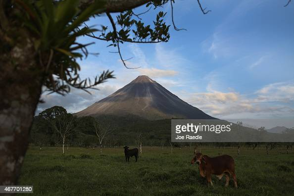 Arenal a dormant volcano is seen as the Costa Rican Electricity Institute has managed to produce all of the electricity for the nation from renewable...