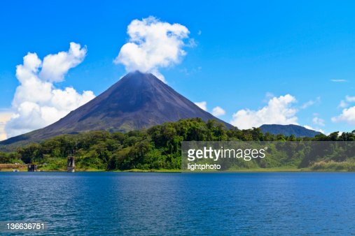 Arenal Volcano and Lake : Stock Photo