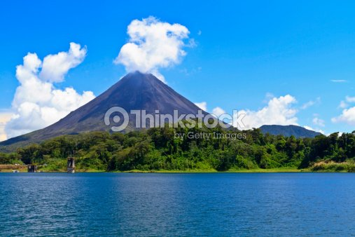 Arenal Volcano and Lake : Stock Photo