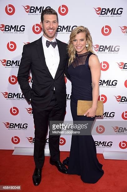 P Arencibia and Kimberly Perry of The Band Perry attend the Big Machine Label Group Celebrates The 48th Annual CMA Awards in Nashville on November 5...