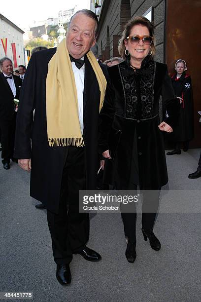 Arend Oetker and his wife Brigitte attend the opening of the easter festival 2014 on April 12 2014 in Salzburg Austria