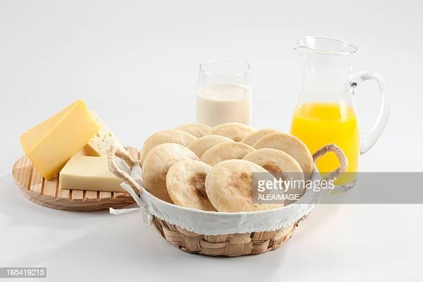 Arepas refeição
