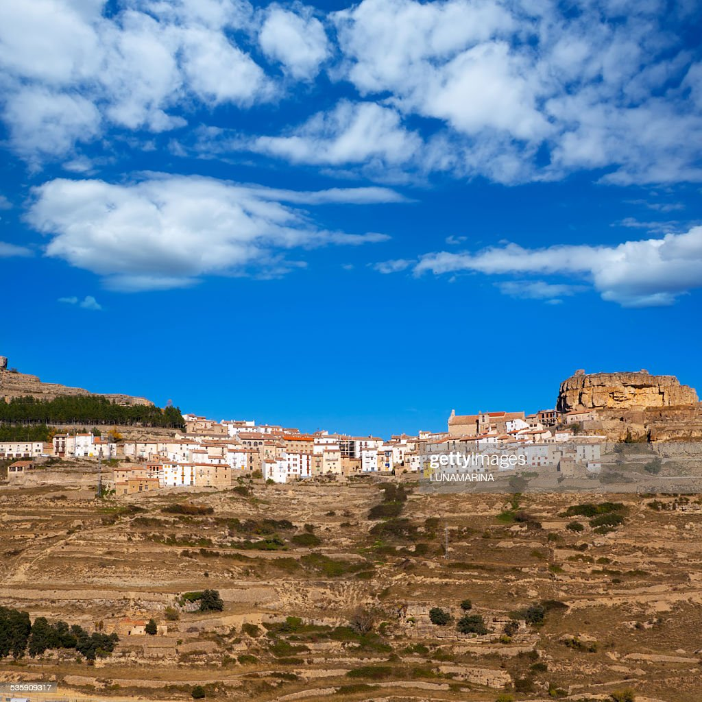 Ares del Maestrazgo Maestre de Castellón España : Foto de stock