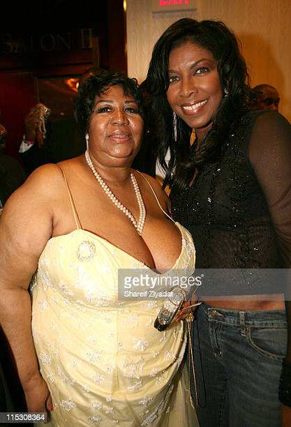 Aretha Franklin and Natalie Cole during Radio One's 25th Anniversary Awards Dinner Gala at JW Marriot in Washington DC United States