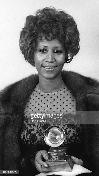 Aretha Franklin attends 13th Annual Grammy Awards on March 1 1975 at the Uris Theater in New York City
