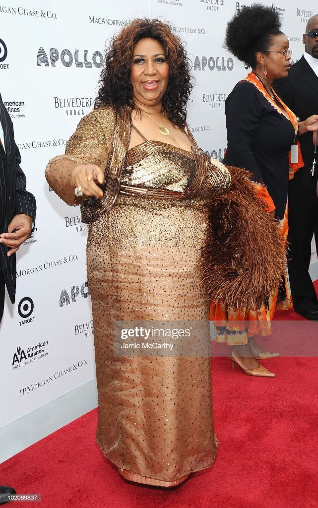 Aretha Franklin attends the 2010 Apollo Theater Spring Benefit Concert & Awards Ceremony at The Apollo Theater on June 14, 2010 in New York City.