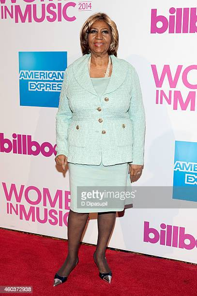Aretha Franklin attends the 2014 Billboard Women In Music Luncheon at Cipriani Wall Street on December 12 2014 in New York City