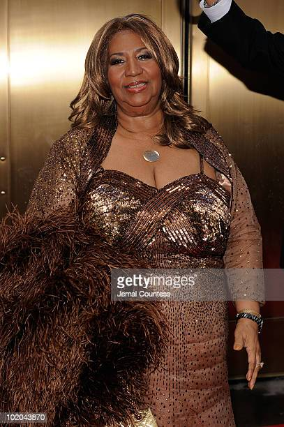 Aretha Franklin attends the 64th Annual Tony Awards at Radio City Music Hall on June 13 2010 in New York City