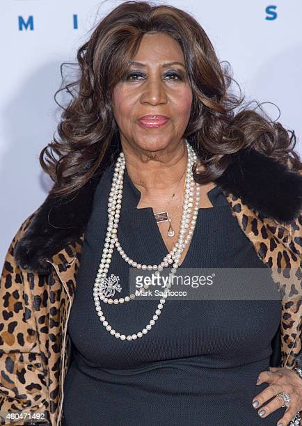 Aretha Franklin attends the 'Selma' New York Premiere at the Ziegfeld Theater on December 14 2014 in New York City