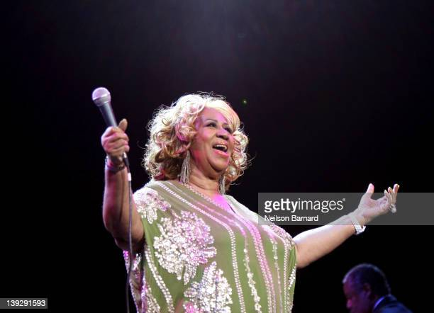 Aretha Franklin performs at Radio City Music Hall on February 18 2012 in New York City