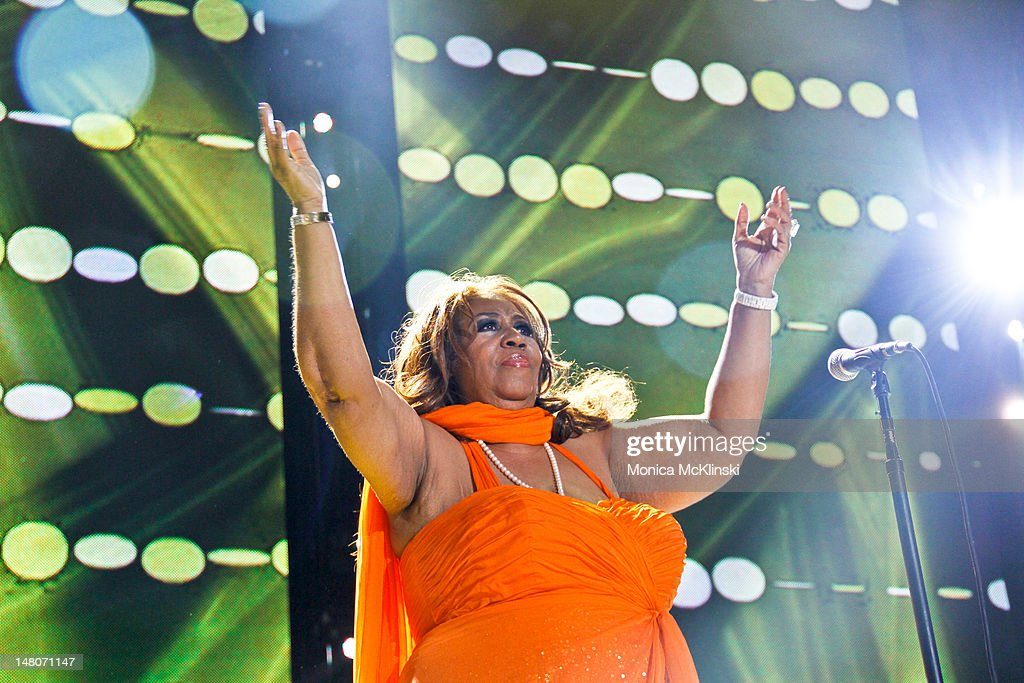 Aretha Franklin performs during the 2012 Essence Music Festival at Louisiana Superdome on July 8 2012 in New Orleans Louisiana