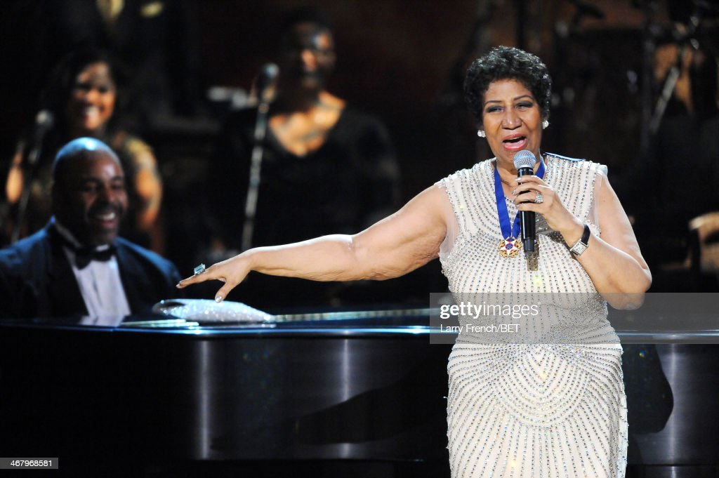 <a gi-track='captionPersonalityLinkClicked' href=/galleries/search?phrase=Aretha+Franklin&family=editorial&specificpeople=210665 ng-click='$event.stopPropagation()'>Aretha Franklin</a> performs onstage at BET Honors 2014 at Warner Theatre on February 8, 2014 in Washington, DC.