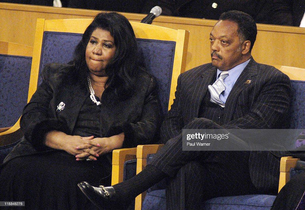 Aretha Franklin Singer and Rev Jesse Jackson