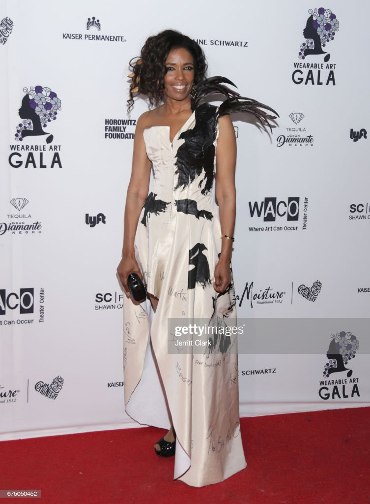 Areva Martin attends the Wearable Art Gala - Arrivals at California African American Museum on April 29, 2017 in Los Angeles, California.