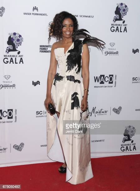 Areva Martin attends the Wearable Art Gala Arrivals at California African American Museum on April 29 2017 in Los Angeles California