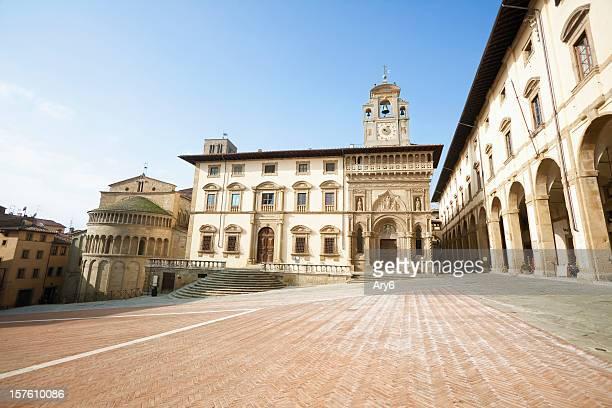 Arezzo, Piazza Grande (Toscana, Italia
