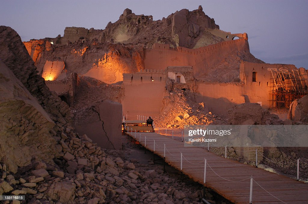 Arge Bam citadel in ruins almost a year after a major earthquake struck the city Bam Iran 6th November 2004 The 2003 Bam earthquake was a major...