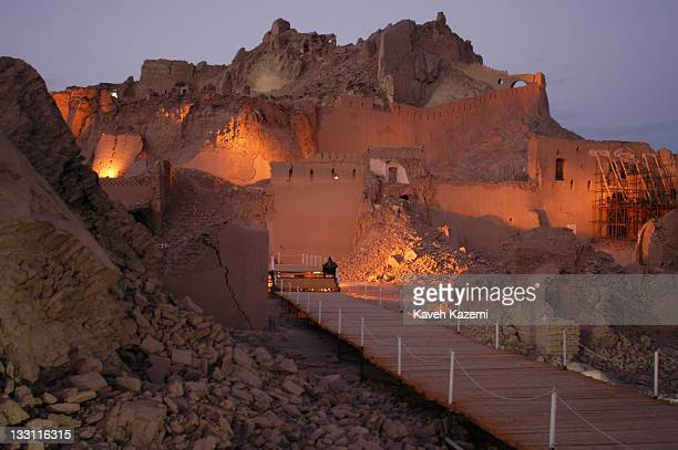 Arge Bam citadel in ruins almost a year after a major earthquake struck the city Bam Iran 6th November 2004 The 2003 Bam earthquake was a major...