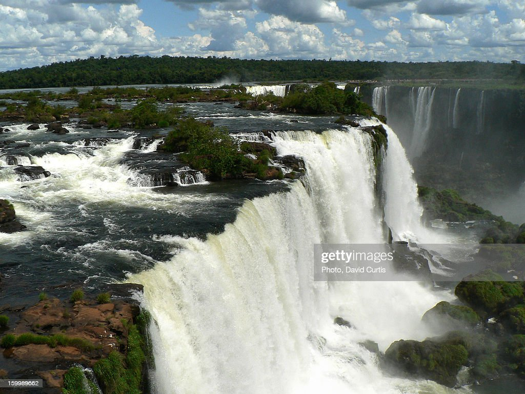 Argentina Brazil Iguasu Falls Devils Throat : Stock Photo