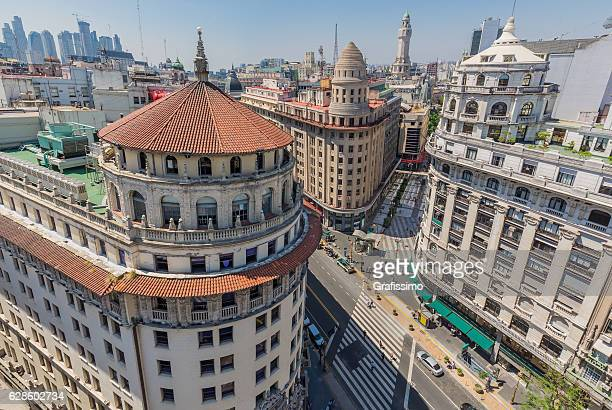 Argentina Buenos Aires buildings downtown from above