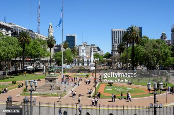 Argentina Buenos Aires Plaza De Mayo Cabildo Original Seat Of City Government In Background