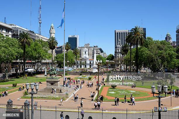 Argentina Buenos Aires Plaza De Mayo Cabildo Original Seat Of City Government In Background