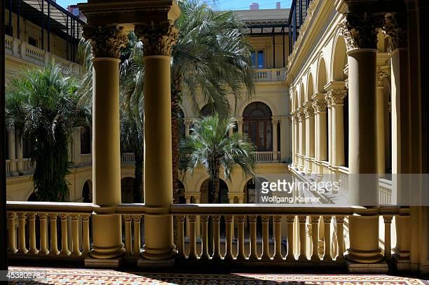 Argentina Buenos Aires Plaza De Mayo Casa Rosada Interior The Palm Tree Patio/courtyard
