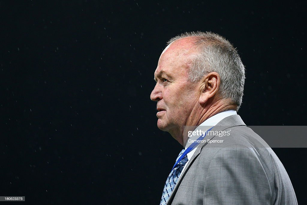 Argentina coaching staff advisor, <a gi-track='captionPersonalityLinkClicked' href=/galleries/search?phrase=Graham+Henry&family=editorial&specificpeople=209410 ng-click='$event.stopPropagation()'>Graham Henry</a> walks across the pitch during The Rugby Championship match between the Australian Wallabies and Argentina at Patersons Stadium on September 14, 2013 in Perth, Australia.