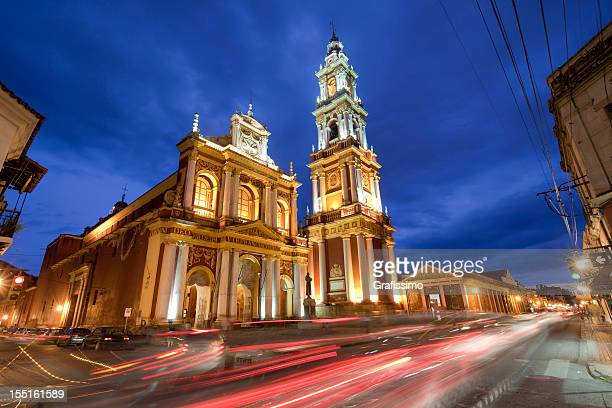 Argentina dawn over Church of San Francisco in Salta