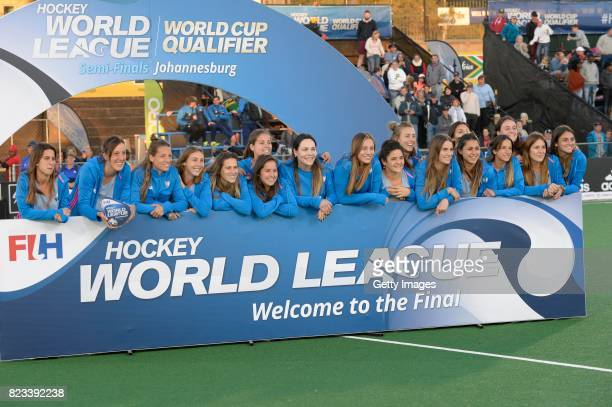 Argentina during day 9 of the FIH Hockey World League Women's Semi Finals at Wits University on July 23 2017 in Johannesburg South Africa