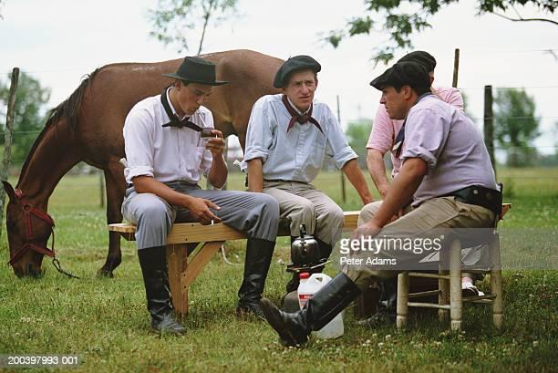 Argentina, gauchos drinking yerba mate