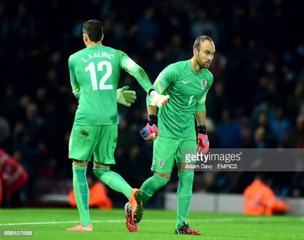 Argentina goalkeeper Ivan Vargic is substituted on for Lovre Kalinic