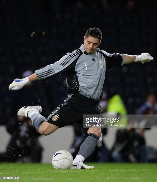 Argentina goalkeeper Juan Carrizo
