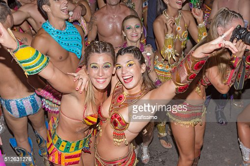 Argentina Gualeguaychu samba dancer dancing at carnival