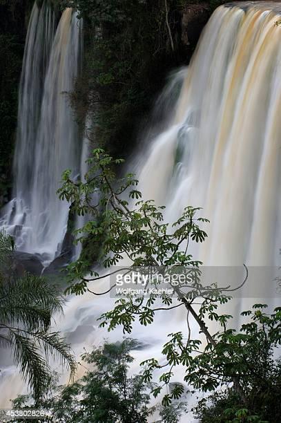 Argentina Iguassu National Park Iguassu Falls View Towards Eva And Bossetti Falls