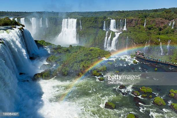 Argentina Iguazu Waterfalls Garganta del Diablo with rainbow