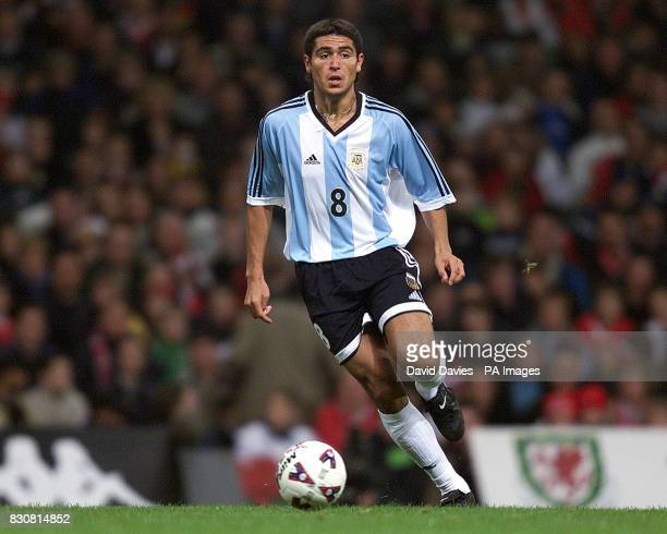 Argentina Juan Roman Riquelme in action in the friendly International game against Wales at the Millennium Stadium Cardiff