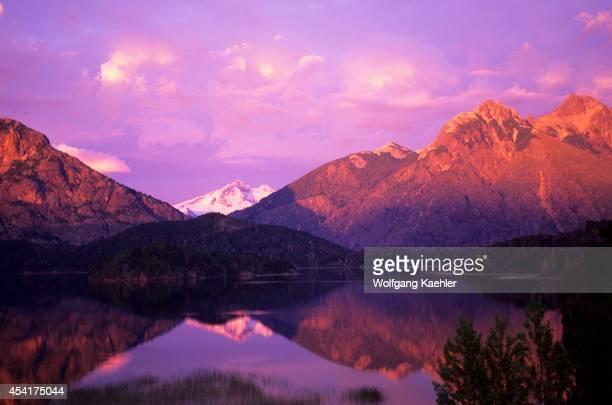Argentina Near Bariloche Lake District Sunrise At Tronador Volcano Andes Mountains