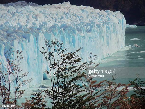 Argentina Perito Moreno glacier ice wall edge