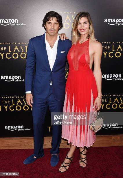 Argentina Polo player Ignacio 'Nacho' Figueras and wife Delfina Blaquier arrive at the Premiere Of Amazon Studios' 'The Last Tycoon' at the Harmony...