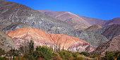 Argentina, Purmamarca, famous Seven Colors (Siete Colores) hill