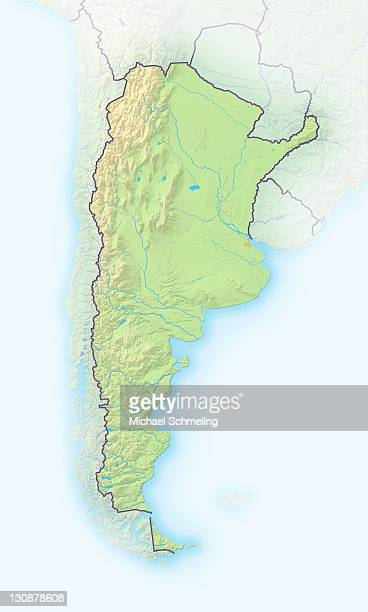 Argentina, shaded relief map
