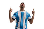 Argentina Soccer fan celebrating
