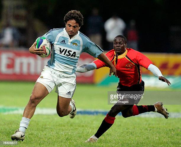 Argentina's Alfredo Lalanne during the IRB World Sevens Series between Uganda and Argentina held on December 7 2007 in George South Africa