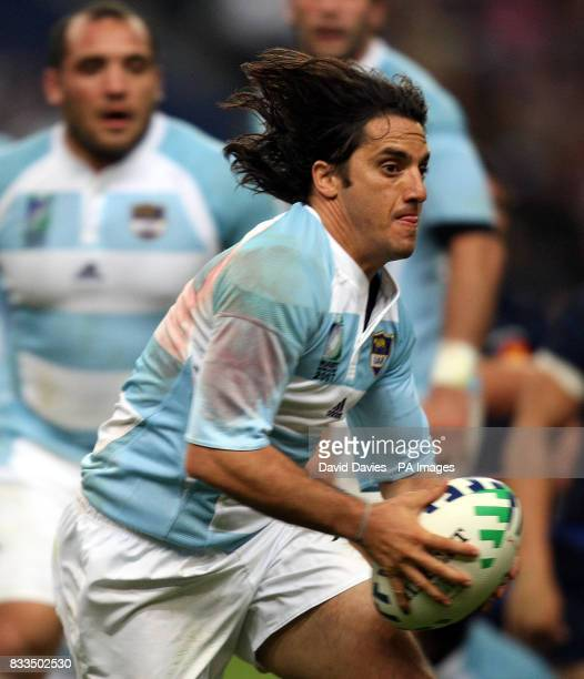 Argentina's Augustin Pichot in action during the Rugby World Cup match at Stade De France Paris France