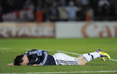 Argentina's Carlos Tevez react after missing the penalty serie against Uruguay during 2011 Copa America soccer match as part of quartes final at...